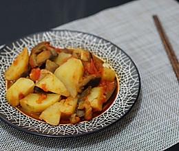 西红柿烧茄子土豆-少油版的做法