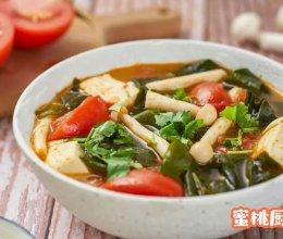 西红柿裙带菜汤的做法