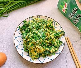 #下饭红烧菜#10分钟搞定的简单快手的韭菜煎鸡蛋的做法