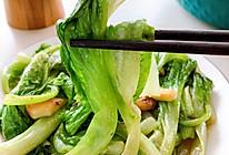 炝炒蒜蓉生菜 想要颜色绿 调料顺序很重要的做法