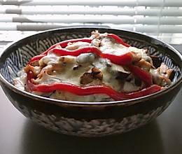 #餐桌上的春日限定#鸡肉香菇焗饭的做法