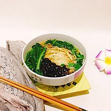 豆香紫菜鸡汤面#2018年我学会的一道菜#