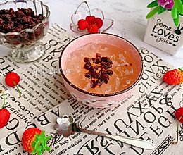 清凉爽滑蜂蜜红糖蜜豆冰粉粉的做法