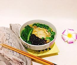豆香紫菜鸡汤面#2018年我学会的一道菜#的做法