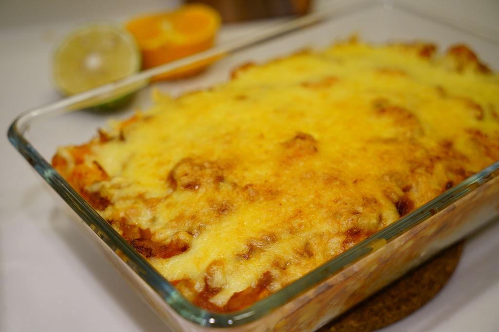 简单又美味的两款芝士焗饭-泡菜火腿焗饭&茄汁大虾焗饭