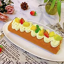 #餐桌上的春日限定#芒果奶油小四卷蛋糕卷