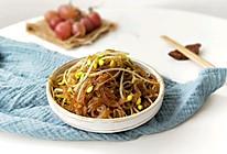 肉丝豆芽炒粉丝(下饭菜)的做法