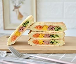 彩虹热压三明治的做法