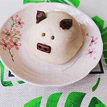 卡通猪猪豆沙包,自制红豆沙,香甜可口!宝宝辅食优选!