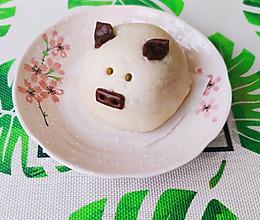 卡通猪猪豆沙包,自制红豆沙,香甜可口!宝宝辅食优选!的做法
