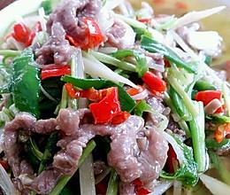 李孃孃爱厨房之一一香菜、鲜椒牛肉丝的做法