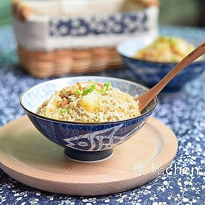 土豆虾米焖饭