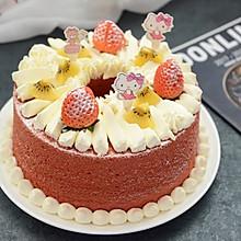 红丝绒奶油裸蛋糕
