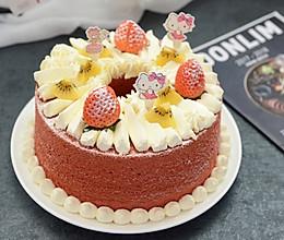 红丝绒奶油裸蛋糕的做法