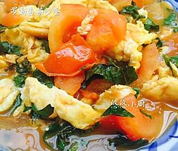 罗勒番茄炒蛋的做法