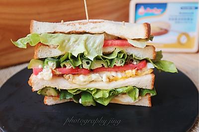 三明治#安佳黑科技易涂抹软黄油#