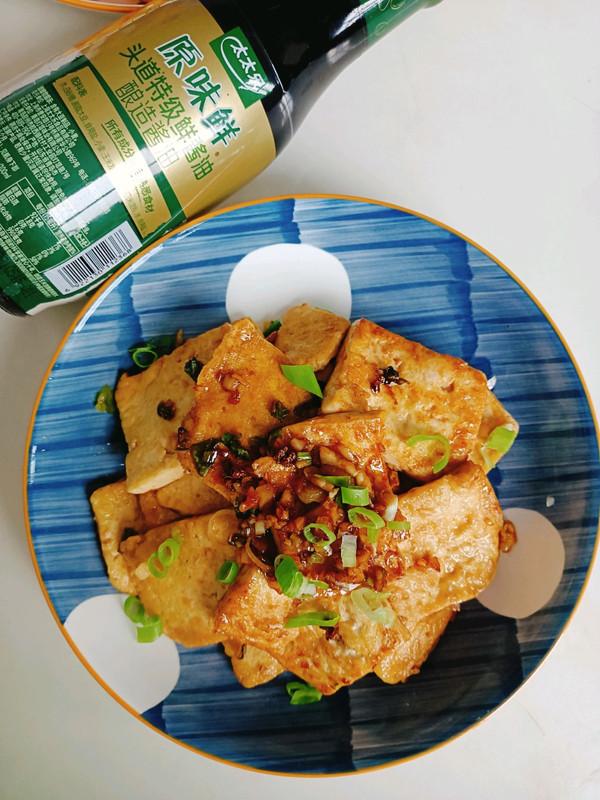 蒜香煎豆腐的做法