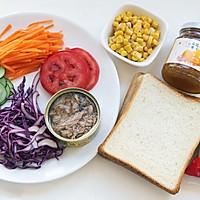 芒果金槍魚三明治的做法圖解1