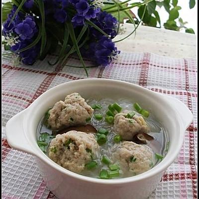 豆渣丸子粉丝汤