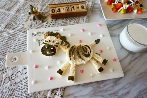 儿童早餐—小斑马吐司的做法