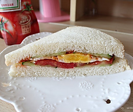 营养早餐三明治的做法