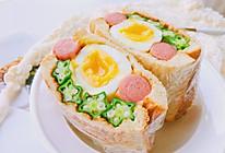 #秋天怎么吃#有颜有料—全蛋秋葵三明治的做法