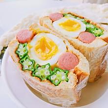 #秋天怎么吃#有颜有料—全蛋秋葵三明治
