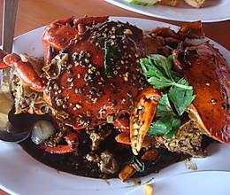 新加坡黑胡椒螃蟹的做法