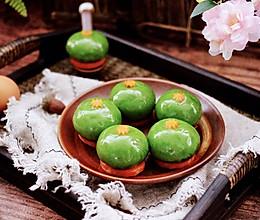 #带着美食去踏青#青菜香干虾皮青团的做法