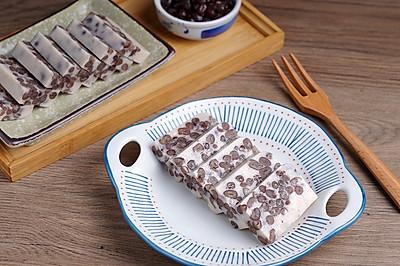 软糯香甜,Q弹好吃又营养——牛奶蜜豆糕【孔老师教做菜】