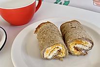 减脂餐 | 爆浆酸奶煎蛋吐司卷卷的做法