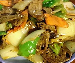 尖椒炒羊肝的做法