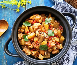 吃货研究院参赛作品-土豆香菇焖鸡的做法