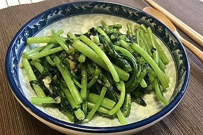 吃点素:蒜蓉茼蒿,5分钟快手菜