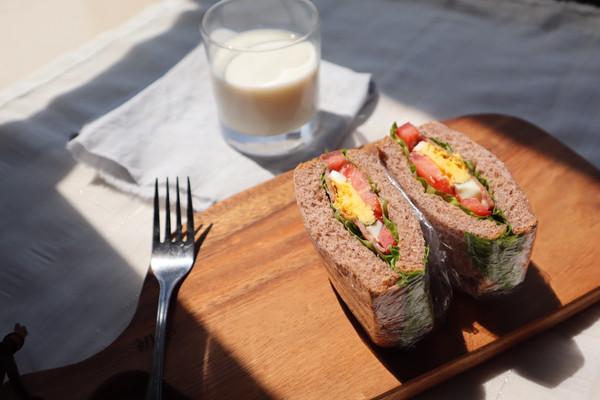 减脂低卡早餐 全麦培根三明治的做法