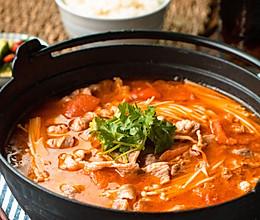 日食记 | 金针菇番茄肥牛锅的做法