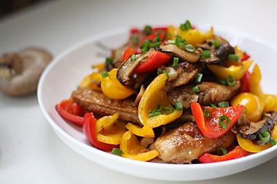 多彩香菇烧鸡翅