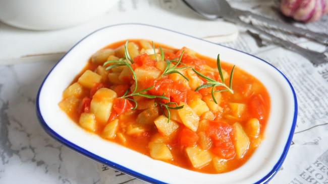 健康低脂不长肉的家常快手菜番茄茄丁,拌饭拌面都好吃的做法