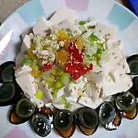 鹌鹑皮蛋拌豆腐的做法图解5
