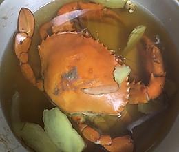 月子菜 青蟹炖酒---怀孕晚期也可使用的补品的做法