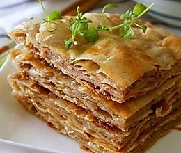 千层肉饼,剩下的饺子馅饺子皮有去处了。的做法