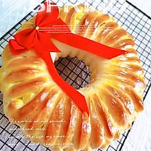 蜜豆花环辫子面包