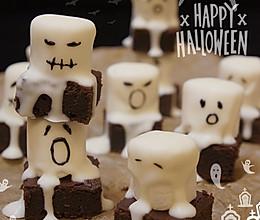 万圣节·小鬼幽灵布朗尼蛋糕的做法