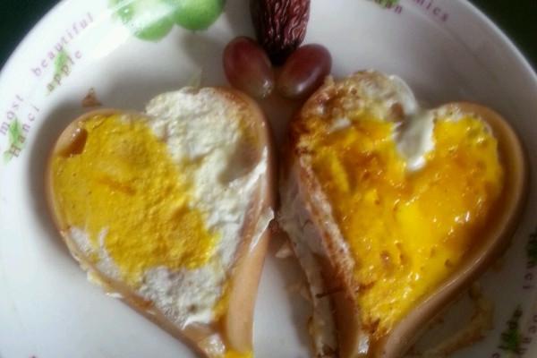 心心相印火腿煎蛋的做法