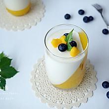 芒果双色慕斯杯#安佳烘焙学院#