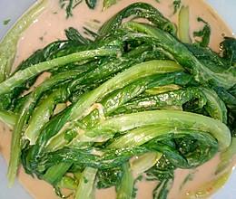 芝麻酱拌油麦菜的做法