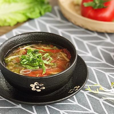 低脂肪 清肠胃 清香三丝素食汤