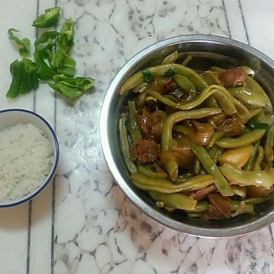 肉炖豆角土豆粉条