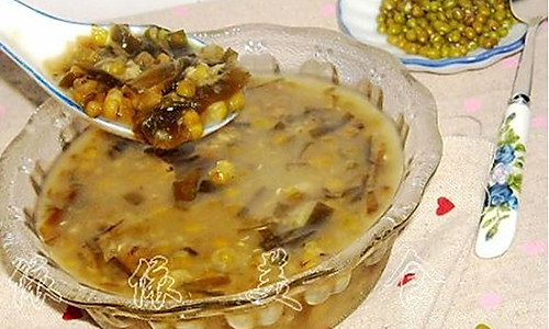 海带绿豆粥的做法