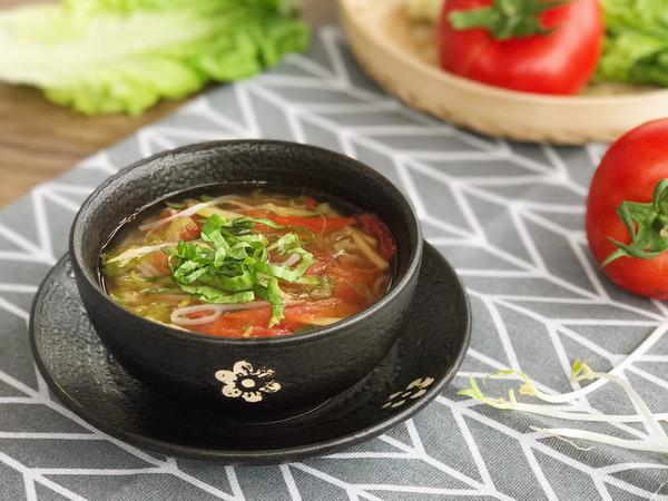 低脂肪 清肠胃 清香三丝素食汤的做法